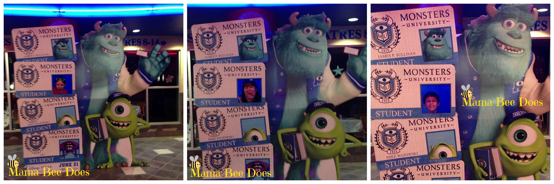 Monsters University free printable student id