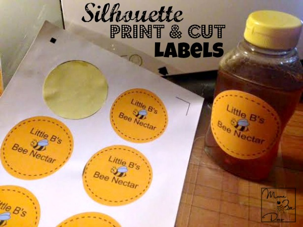 silhouette print and cut sticker labels