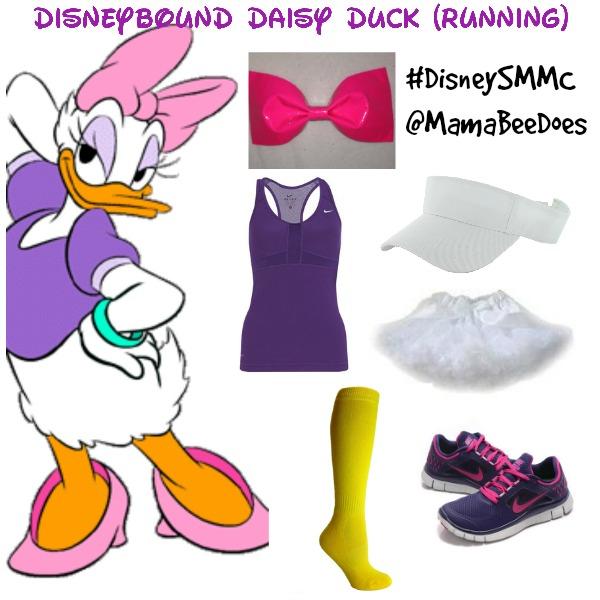 disneybounding daisy duck running outfit