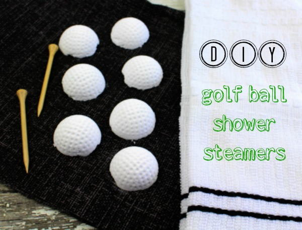 DIY golf ball shower steamers